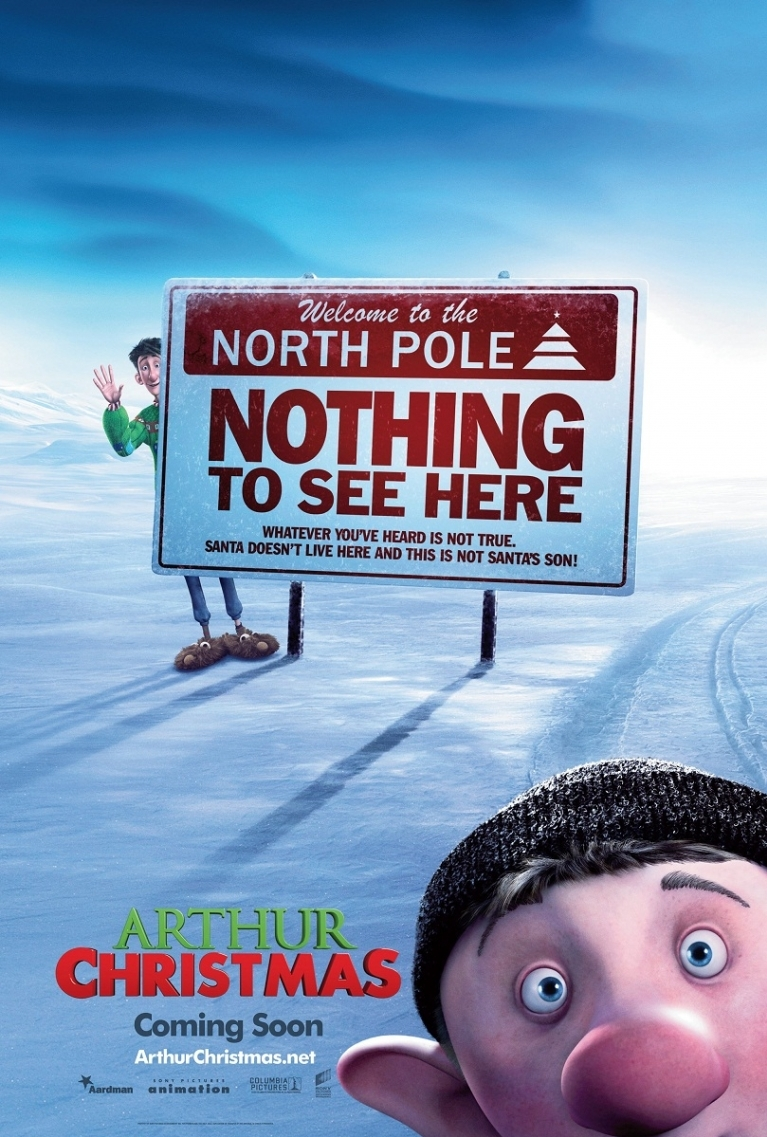 Arthur Christmas poster, © 2011 Sony Pictures Releasing