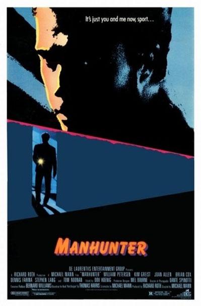 Manhunter poster, copyright in handen van productiestudio en/of distributeur