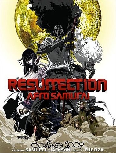 Afro Samurai: Resurrection poster, copyright in handen van productiestudio en/of distributeur