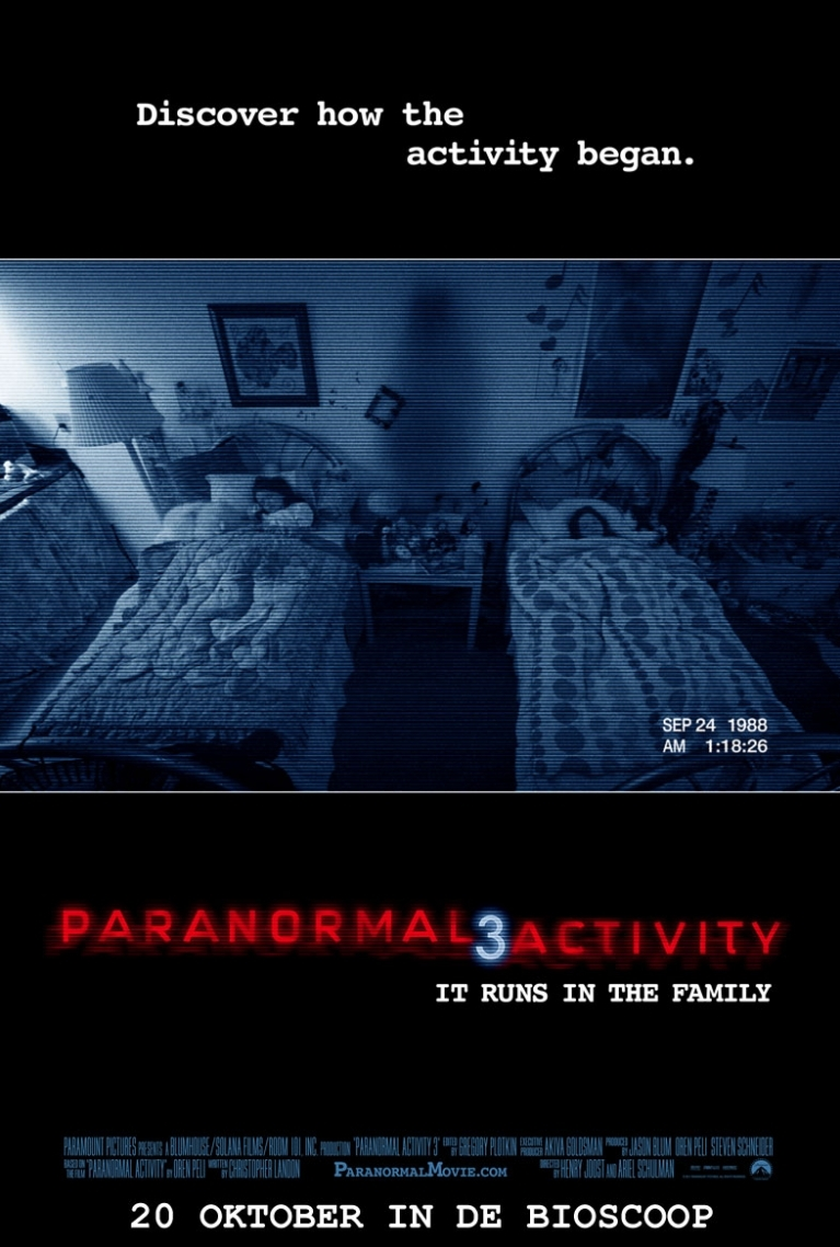 Paranormal Activity 3 poster, © 2011 Universal Pictures