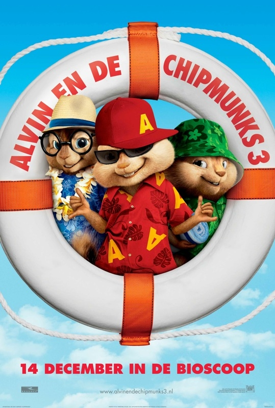 Alvin and the Chipmunks: Chip-Wrecked poster, © 2011 Warner Bros.