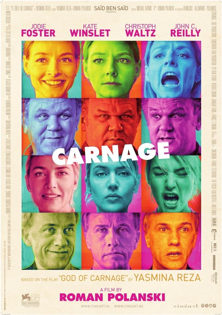 Carnage poster, © 2011 Cinéart