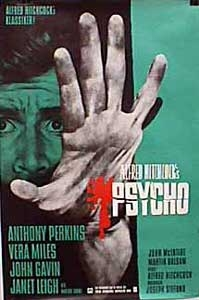 poster 'Psycho' © 1975 Paramount Pictures