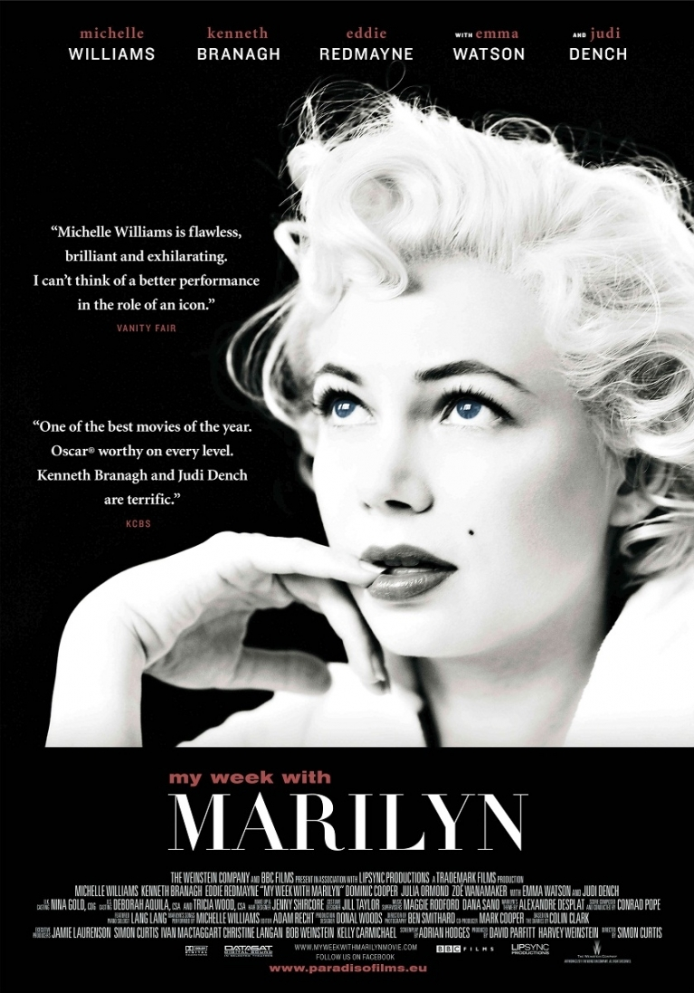 My Week with Marilyn poster, © 2011 Paradiso