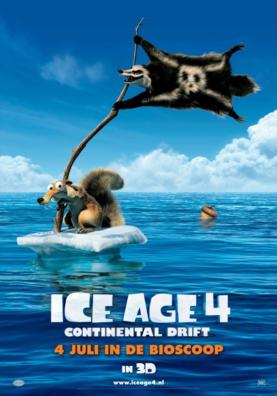 Ice Age: Continental Drift poster, © 2012 20th Century Fox