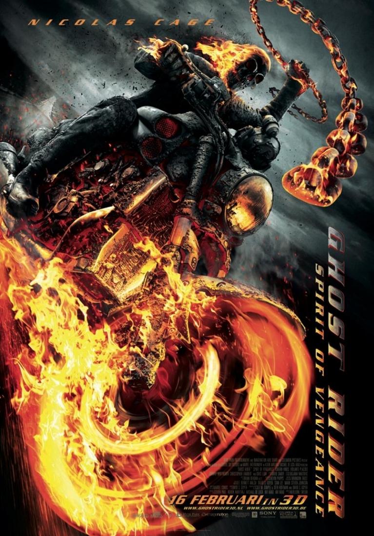 Ghost Rider: Spirit of Vengeance poster, © 2012 E1 Entertainment Benelux