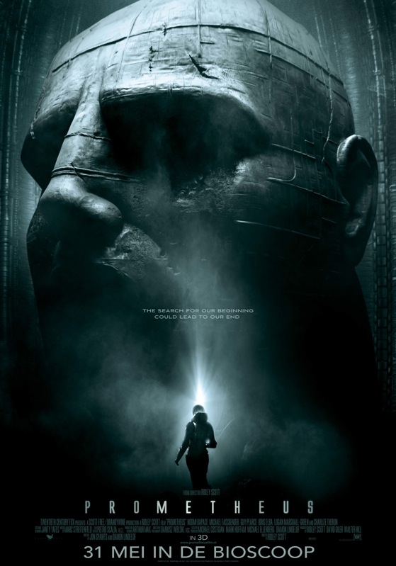 Prometheus poster, © 2012 Warner Bros.
