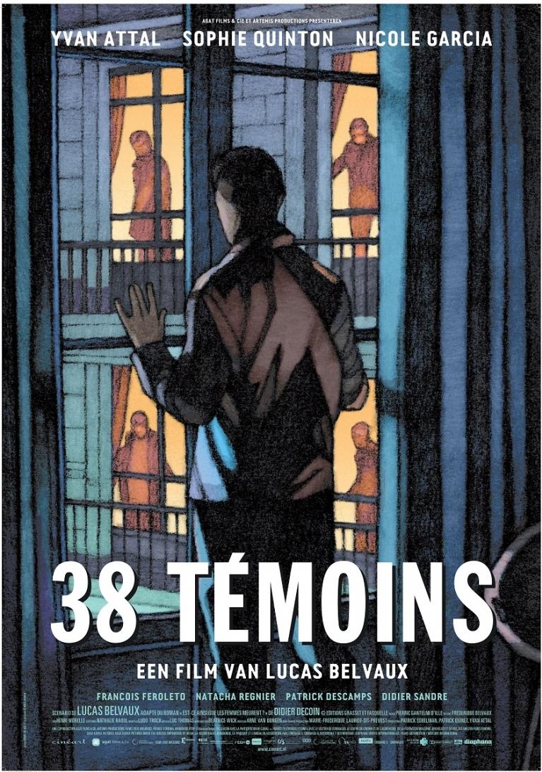 38 témoins poster, © 2012 Cinéart