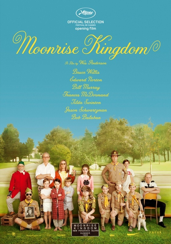Moonrise Kingdom poster, © 2012 Benelux Film Distributors
