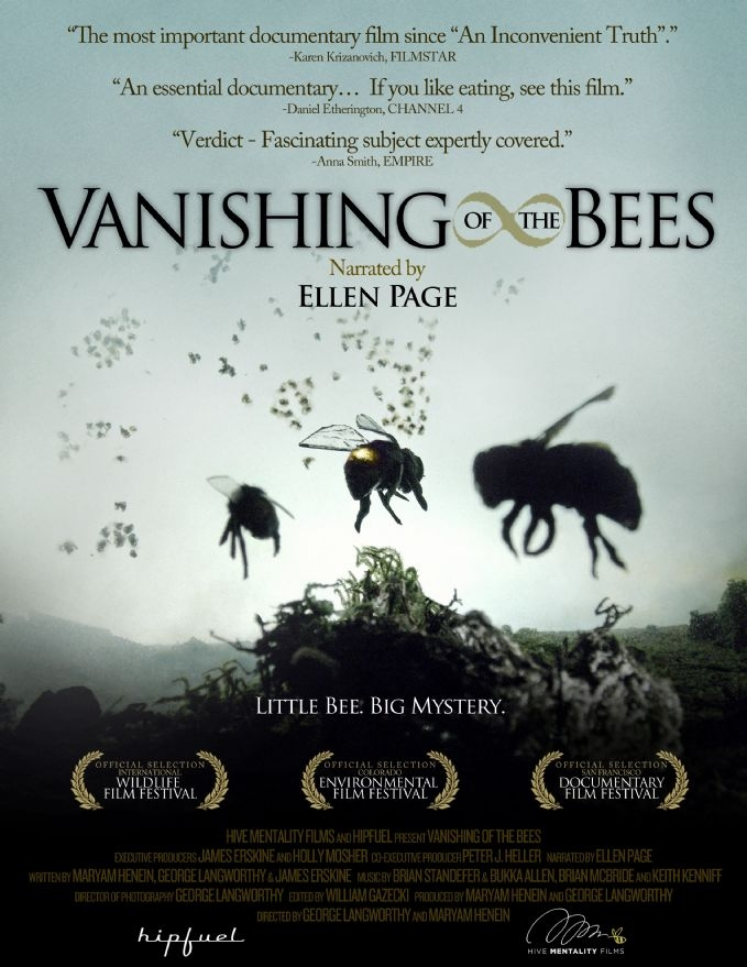 Vanishing of the Bees poster, copyright in handen van productiestudio en/of distributeur
