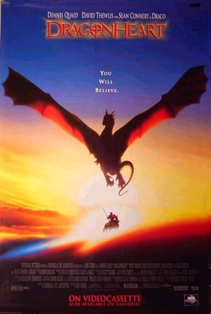DragonHeart poster, copyright in handen van productiestudio en/of distributeur