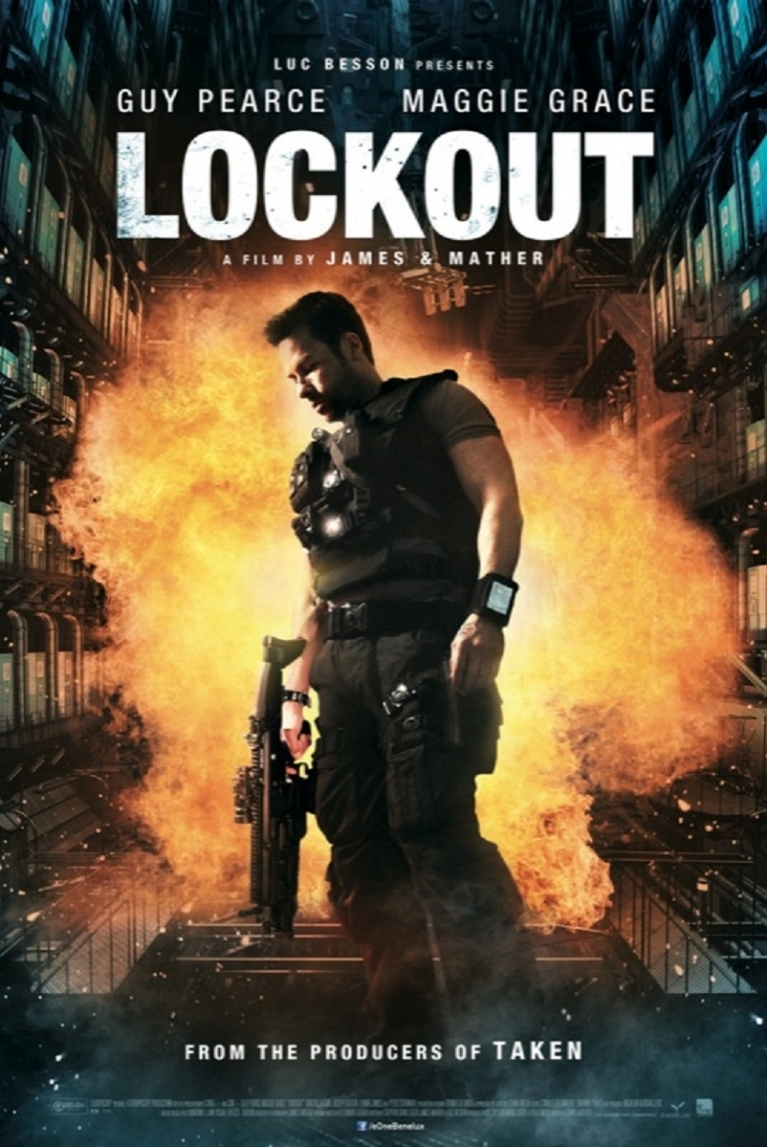 Lockout poster, © 2012 E1 Entertainment Benelux