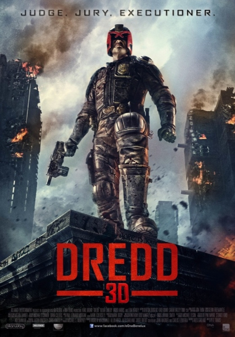 Dredd poster, © 2012 E1 Entertainment Benelux