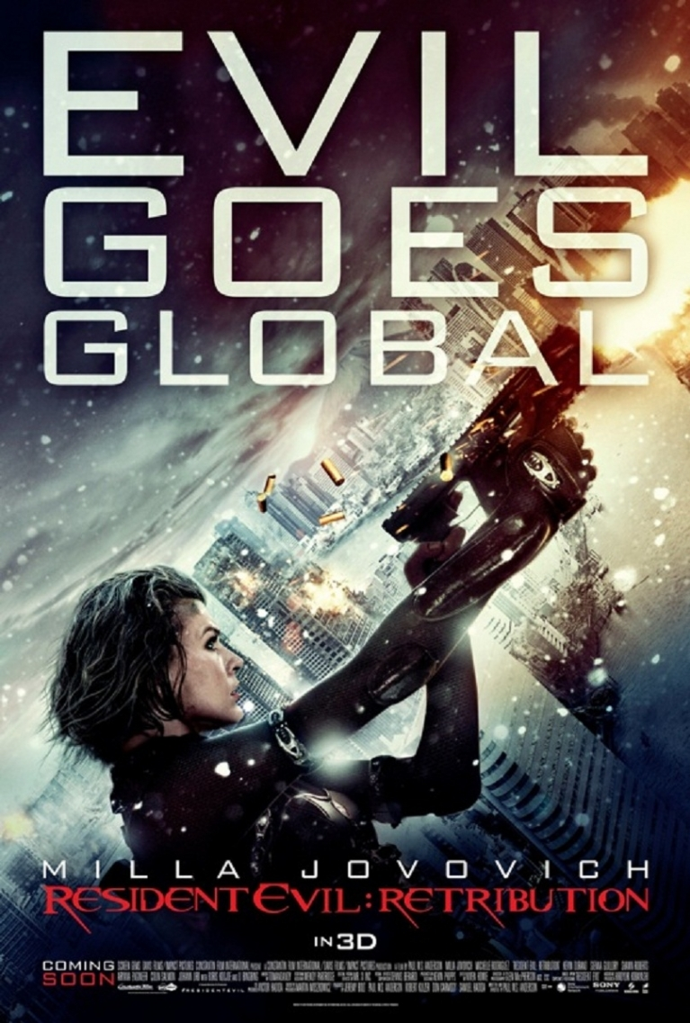 Resident Evil: Retribution poster, © 2012 Sony Pictures Releasing