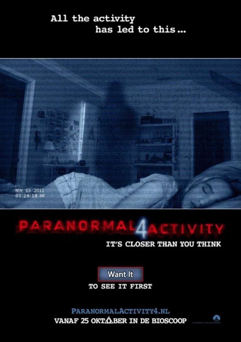 Paranormal Activity 4 poster, © 2012 Universal Pictures International
