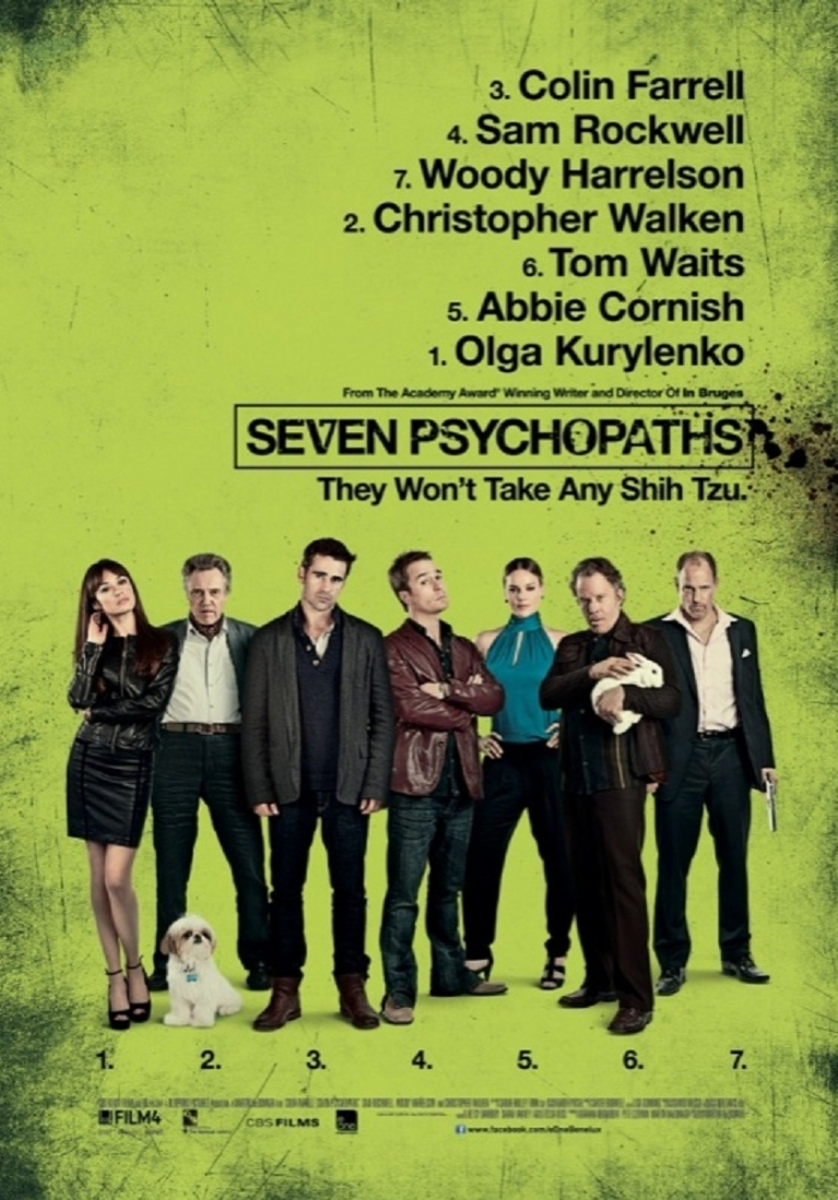 Seven Psychopaths poster, © 2012 E1 Entertainment Benelux