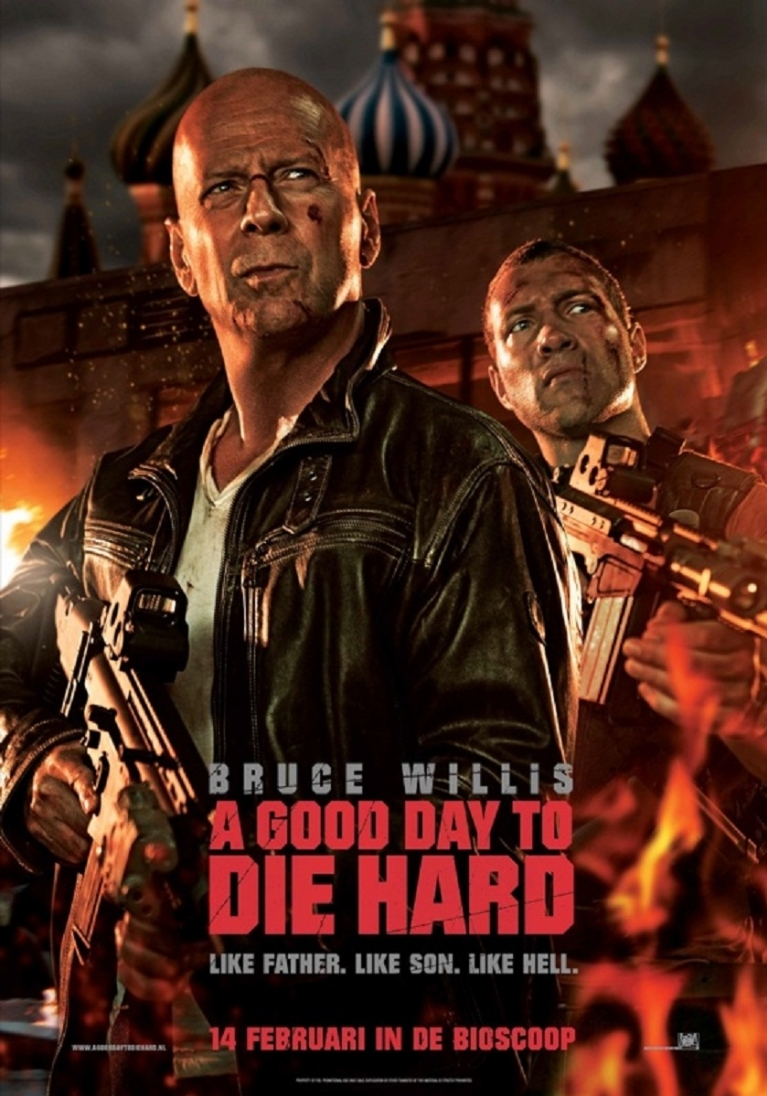 A Good Day to Die Hard poster, © 2013 20th Century Fox