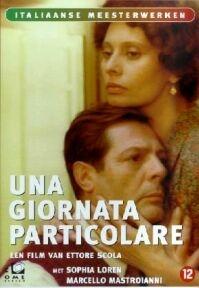 poster 'Una Giornata Particolare' met Marcello Mastroianni en Sophia Loren © 1977 Canafox