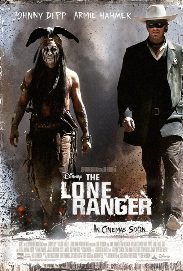 The Lone Ranger poster, © 2013 Walt Disney Pictures
