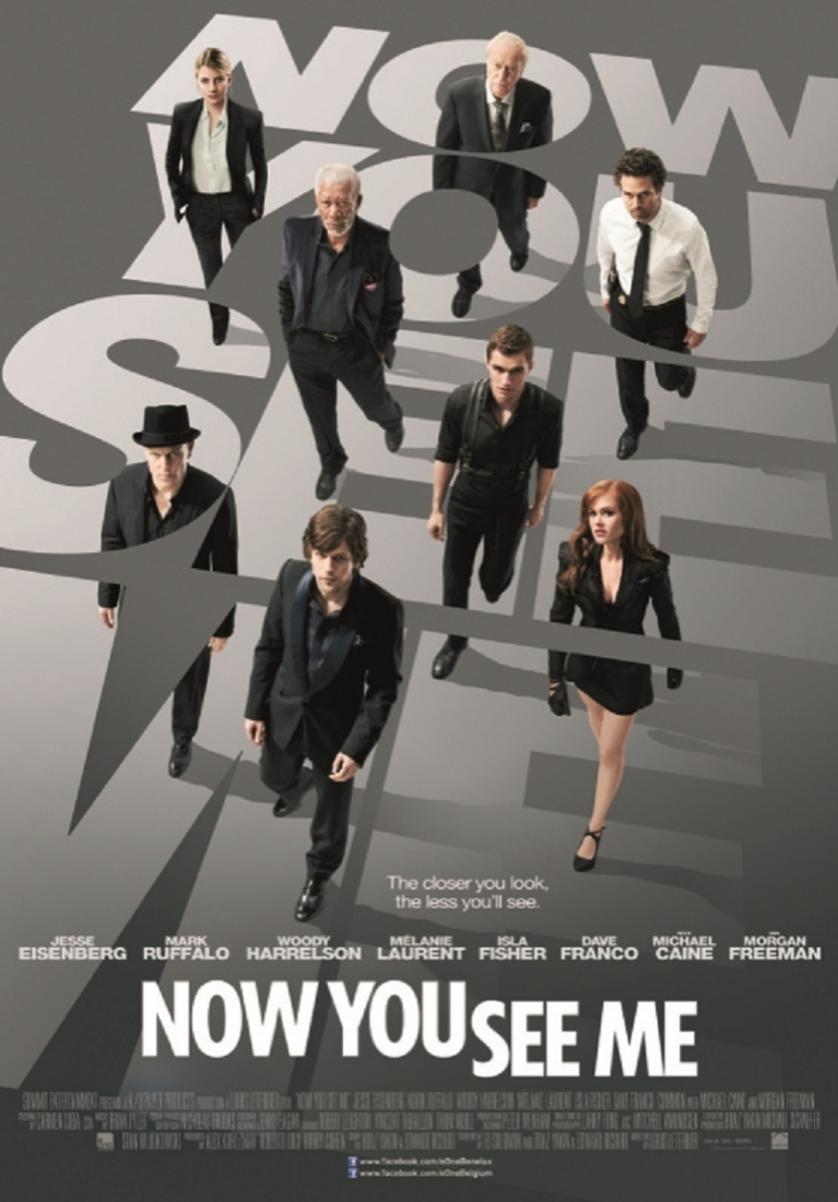 Now You See Me poster, © 2013 E1 Entertainment Benelux