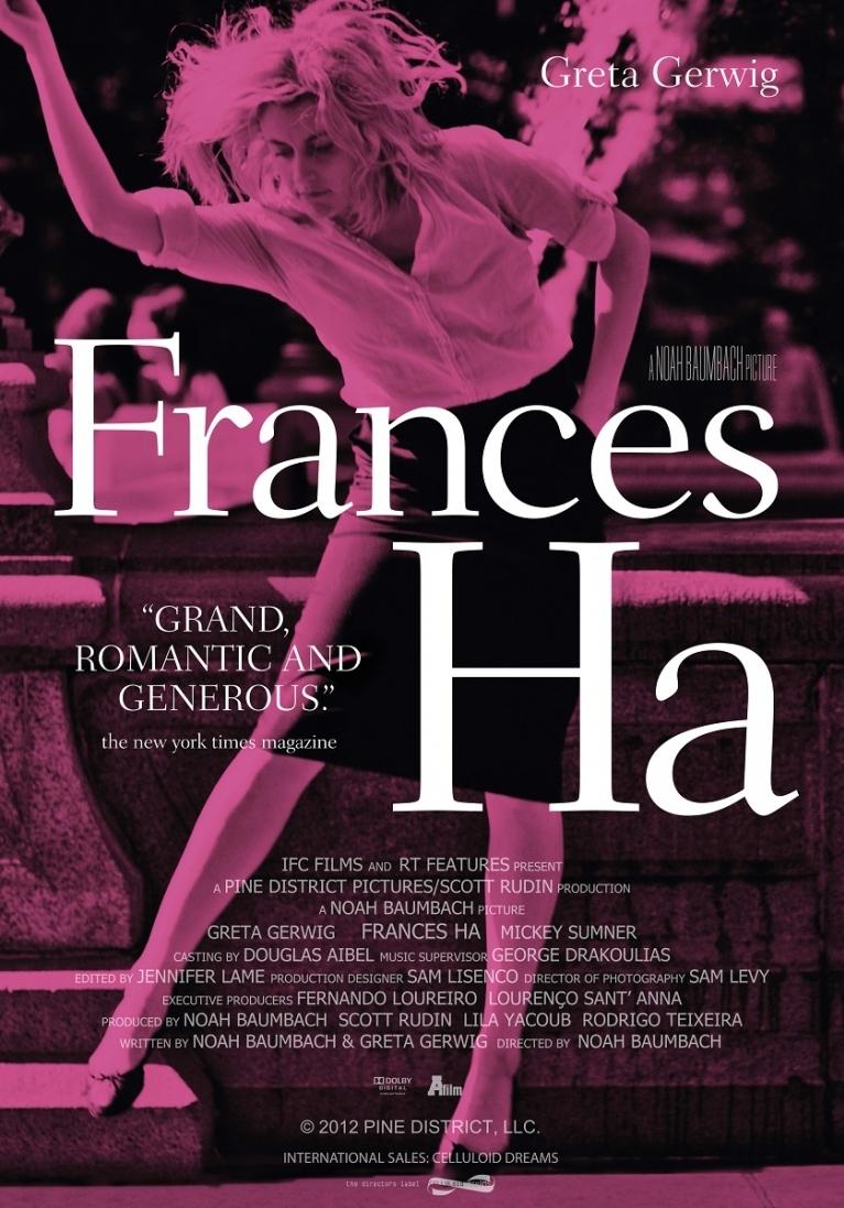 Frances Ha poster, © 2012 A-Film Distribution