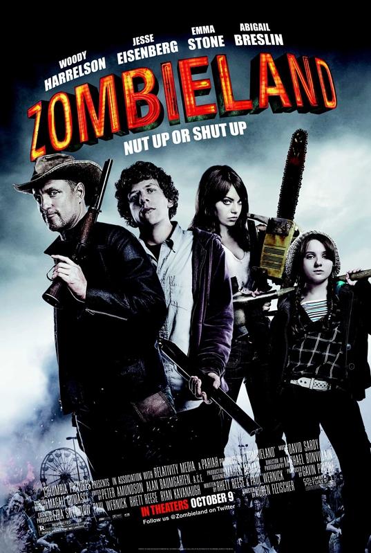 Zombieland poster, copyright in handen van productiestudio en/of distributeur