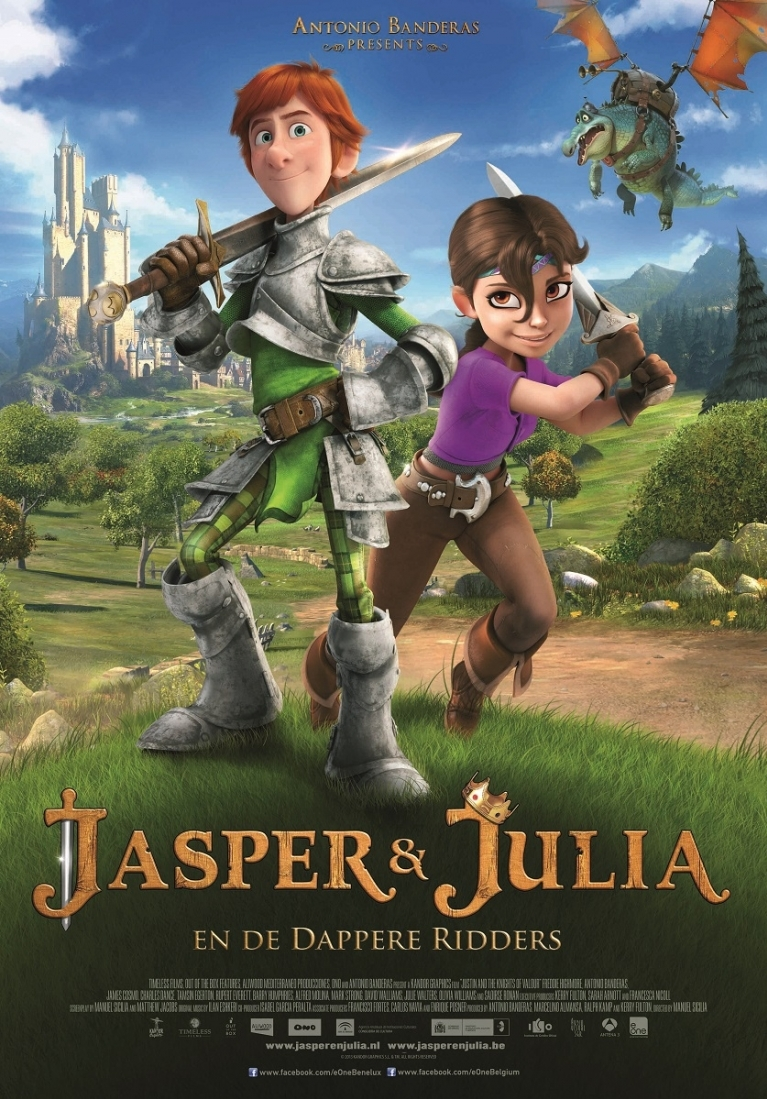 Justin and the Knights of Valour poster, © 2013 E1 Entertainment Benelux