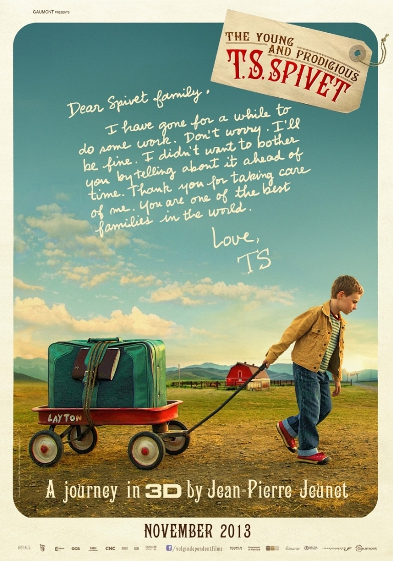 The Young and Prodigious T.S. Spivet poster, © 2013 Independent Films