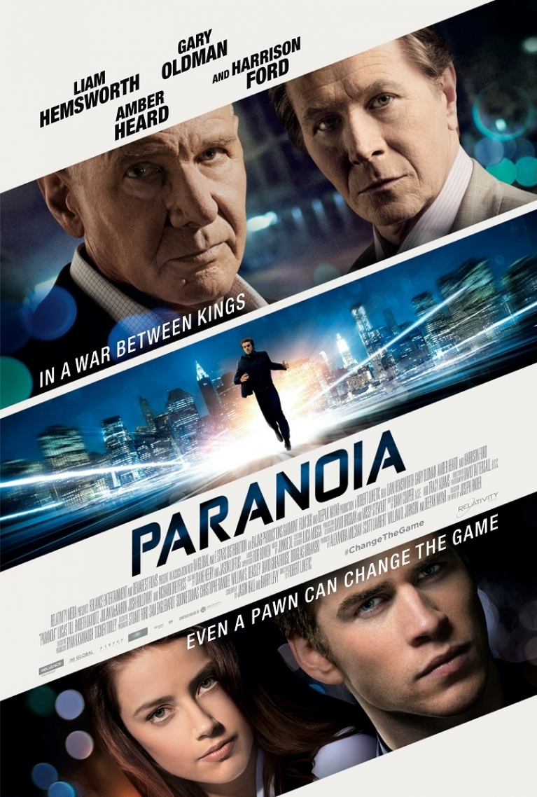 Paranoia poster, © 2013 E1 Entertainment Benelux