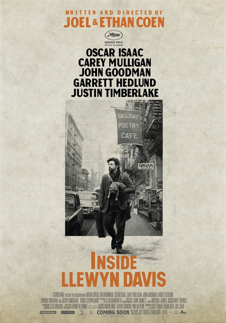 Inside Llewyn Davis poster, © 2013 A-Film Distribution