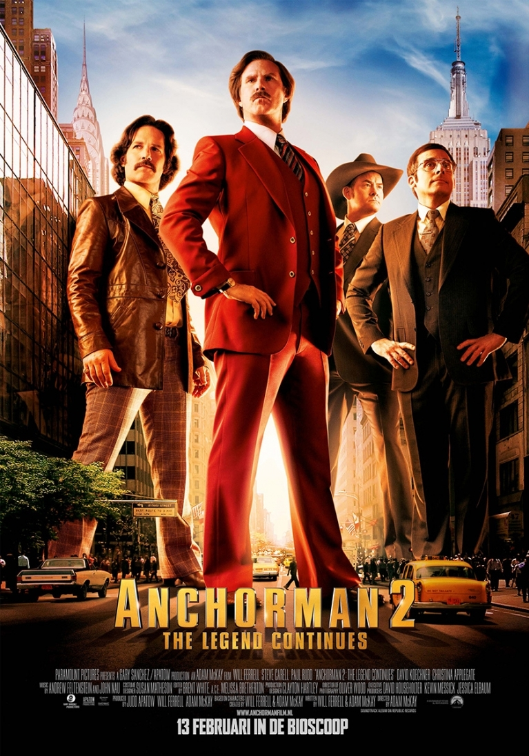Anchorman: The Legend Continues poster, © 2013 Universal Pictures International