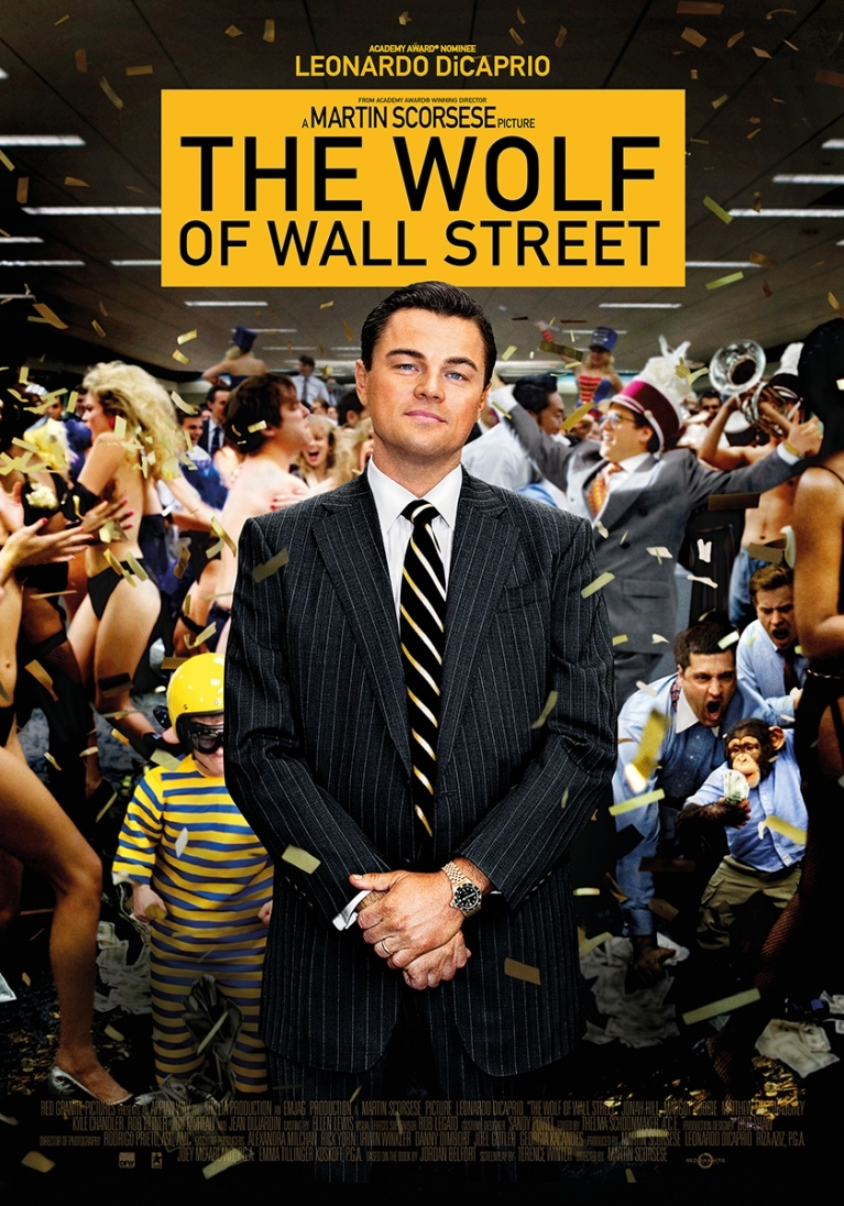 The Wolf of Wall Street poster, © 2013 Dutch FilmWorks