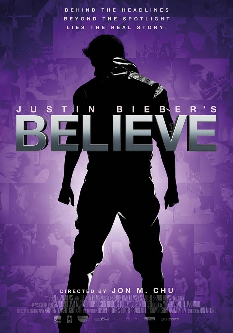 Justin Bieber's Believe poster, © 2013 Dutch FilmWorks