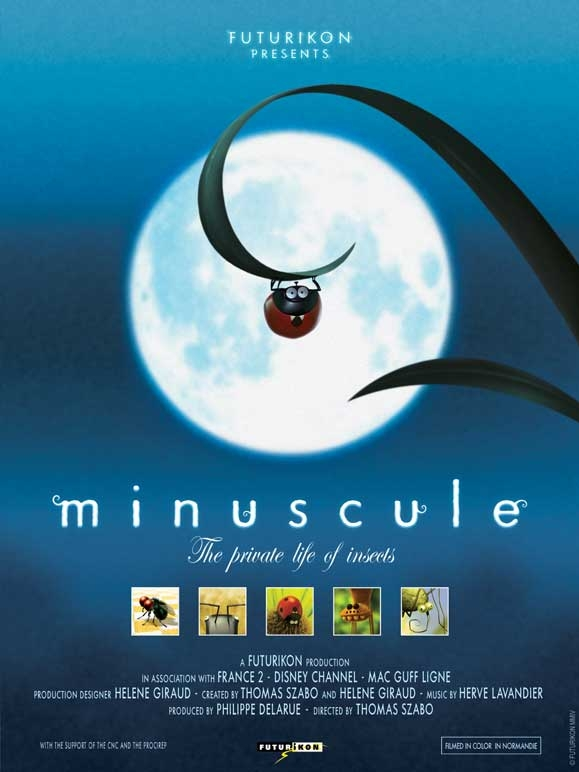 """Minuscule"" poster, copyright in handen van productiestudio en/of distributeur"