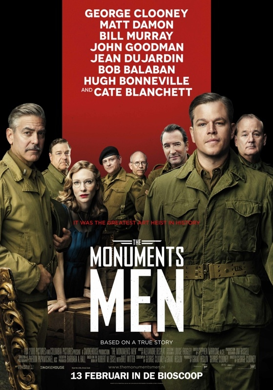 The Monuments Men poster, © 2014 20th Century Fox