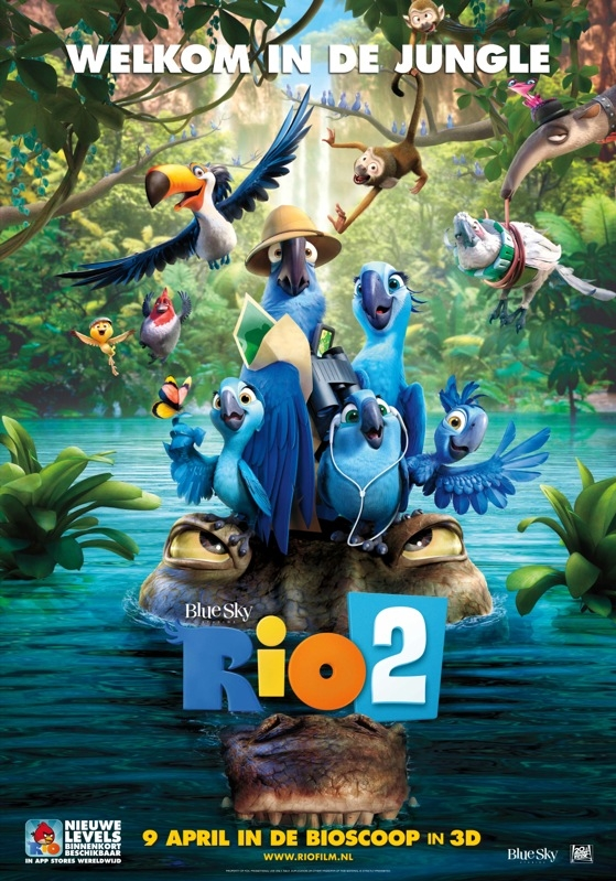Rio 2 poster, © 2014 20th Century Fox