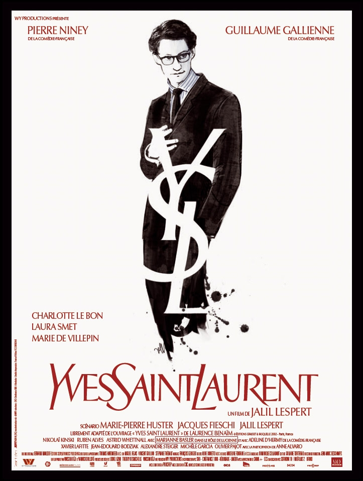 Yves Saint Laurent poster, © 2014 Entertainment One Benelux