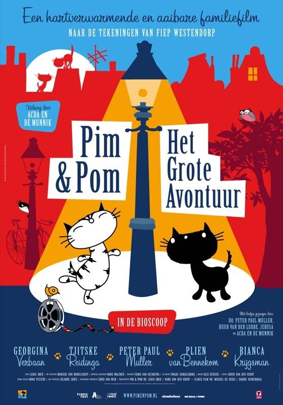 Pim & Pom: Het Grote Avontuur poster, © 2014 A-Film Distribution
