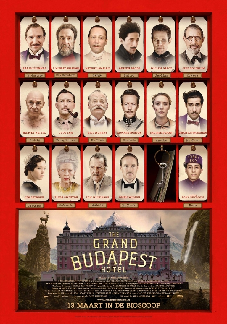 The Grand Budapest Hotel poster, © 2014 20th Century Fox