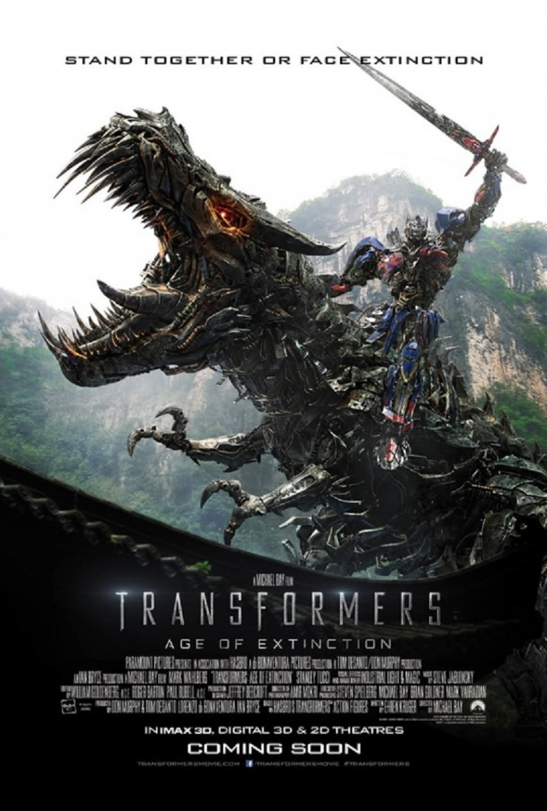 Transformers: Age of Extinction poster, © 2014 Universal Pictures