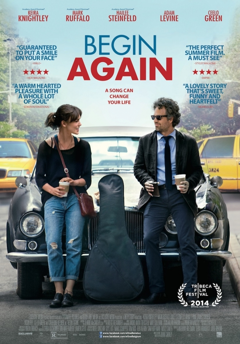 Begin Again poster, © 2013 E1 Entertainment Benelux