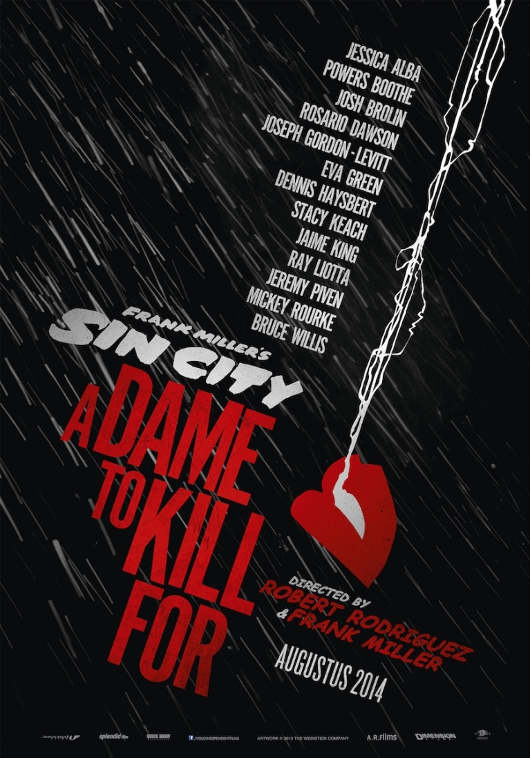 Sin City: A Dame to Kill For poster, © 2014 Independent Films