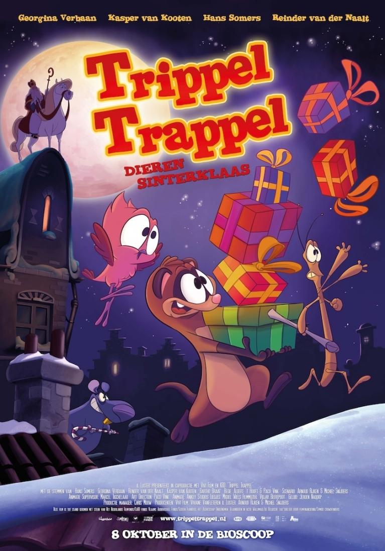 Trippel Trappel: Dierensinterklaas poster, copyright in handen van productiestudio en/of distributeur