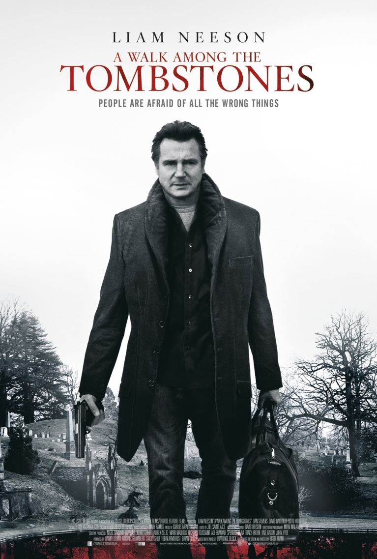 A Walk Among the Tombstones poster, © 2014 A-Film Distribution