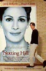 Roberts en Grant op de poster van 'Notting Hill' © 1999 Columbia TriStar