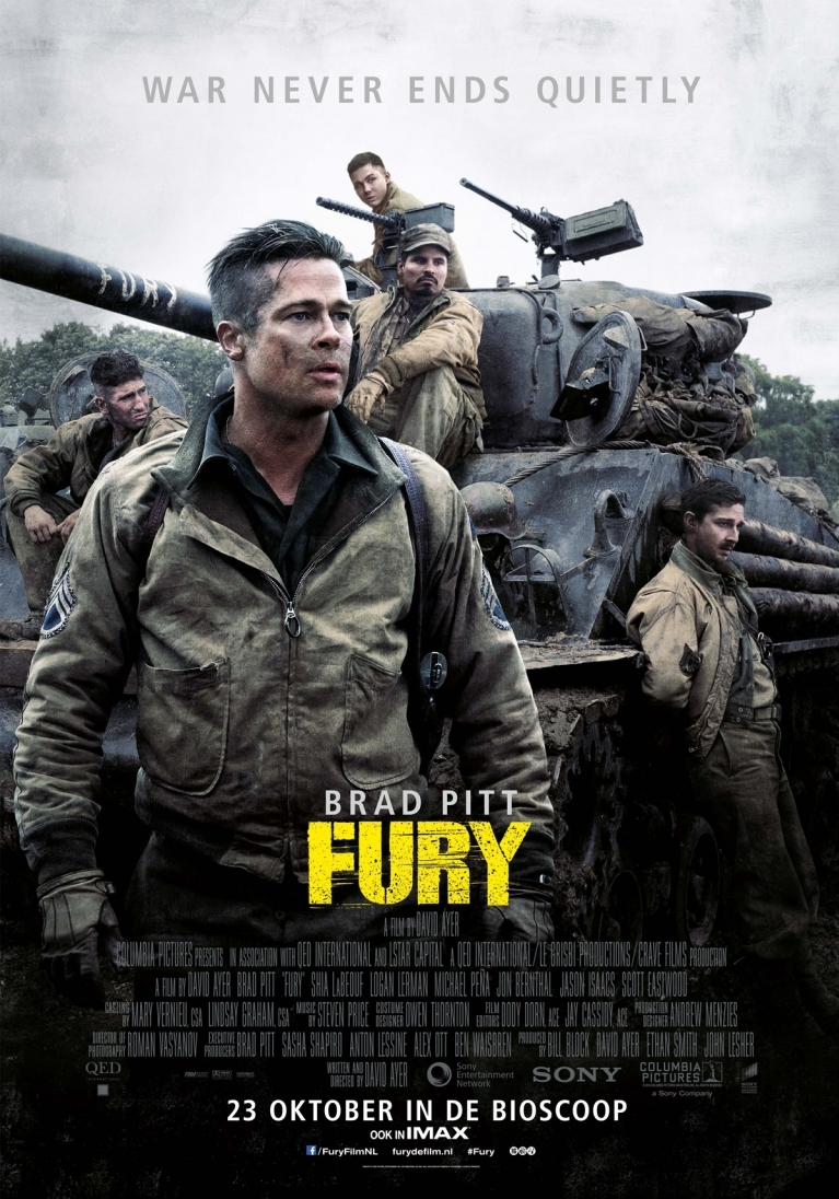 Fury poster, © 2014 Universal Pictures International