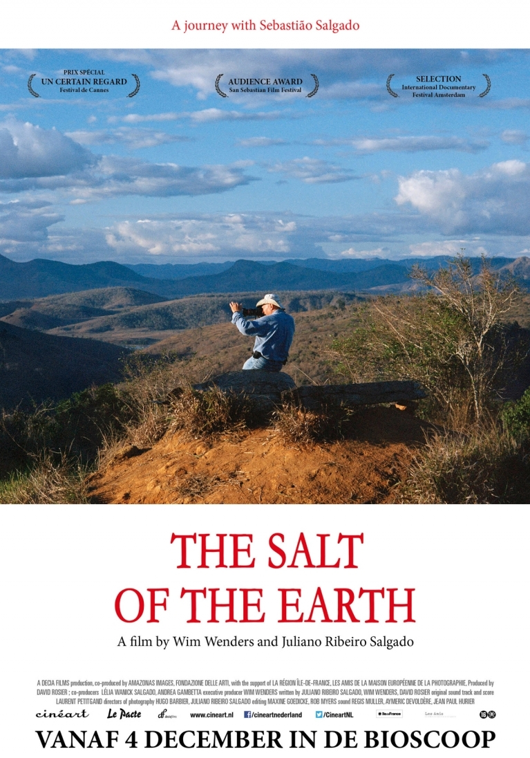 The Salt of the Earth poster, © 2014 Cinéart