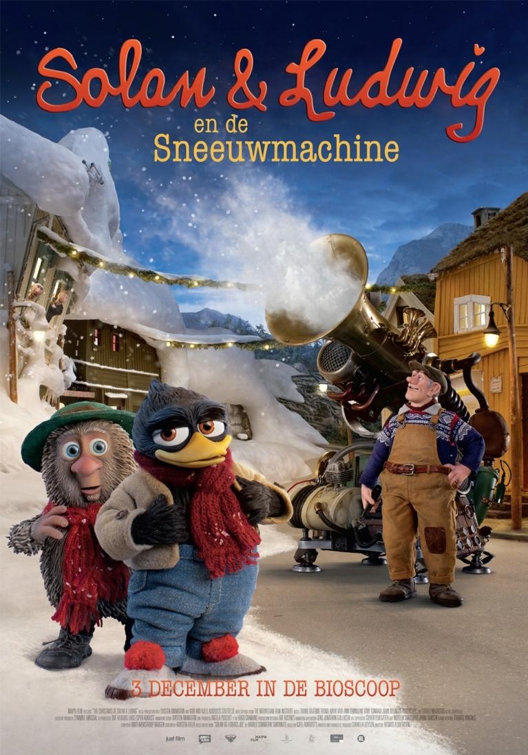Solan og Ludvig - Jul i Flåklypa poster, © 2013 Just Film Distribution