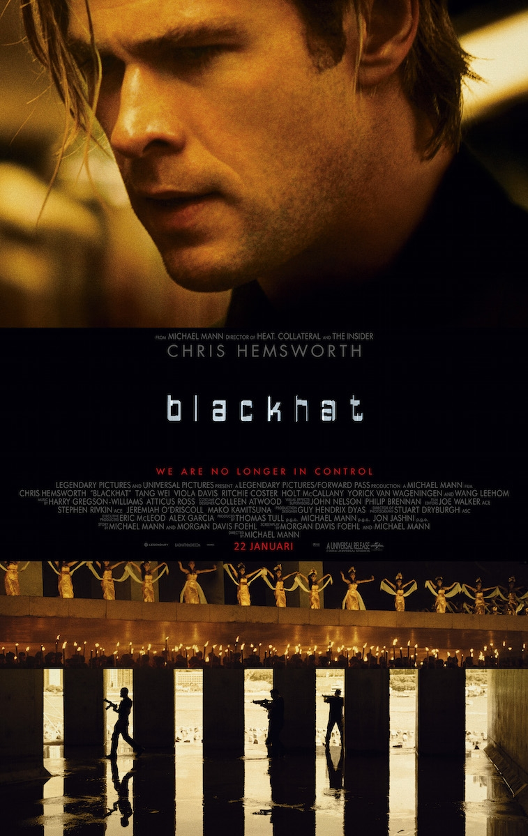 Blackhat poster, © 2015 Universal Pictures