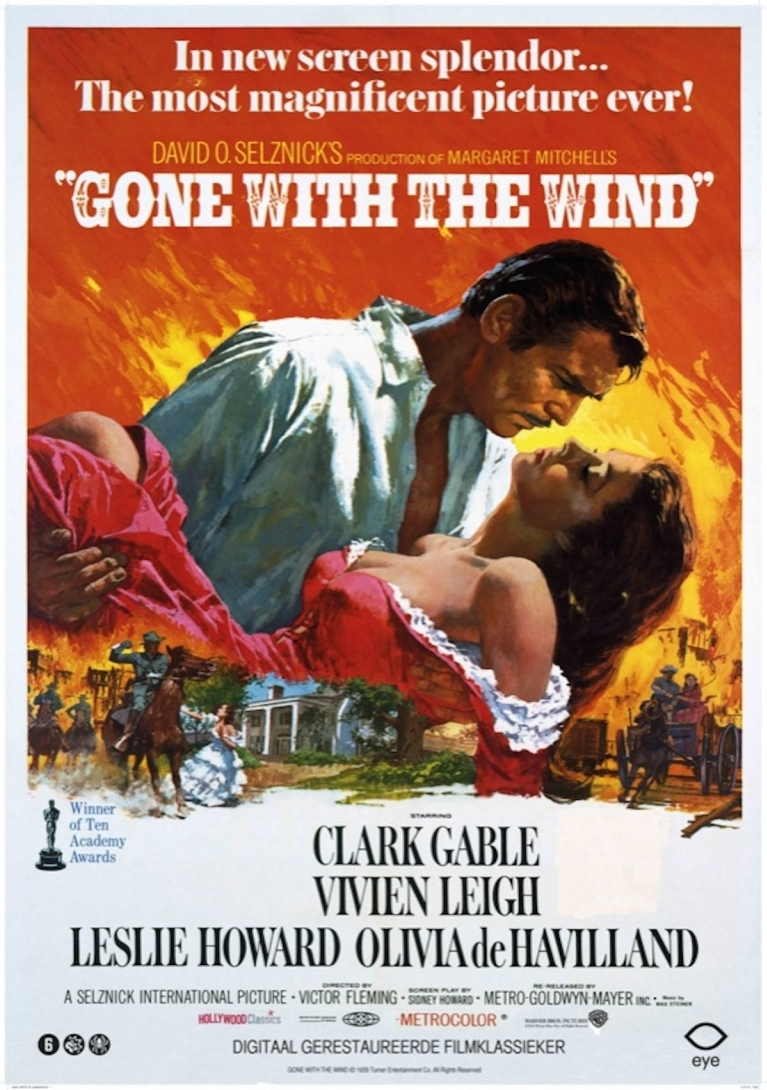 Gone with the Wind poster, © 1939 Eye Film Instituut